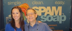 Karl with Jenna from Spam Soap