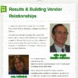 Results & Building Vendor Relationships