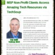 MSP Non-Profit Clients Access Amazing Tech Resources via TechSoup