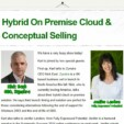 Hybrid On Premise Cloud & Conceptual Selling